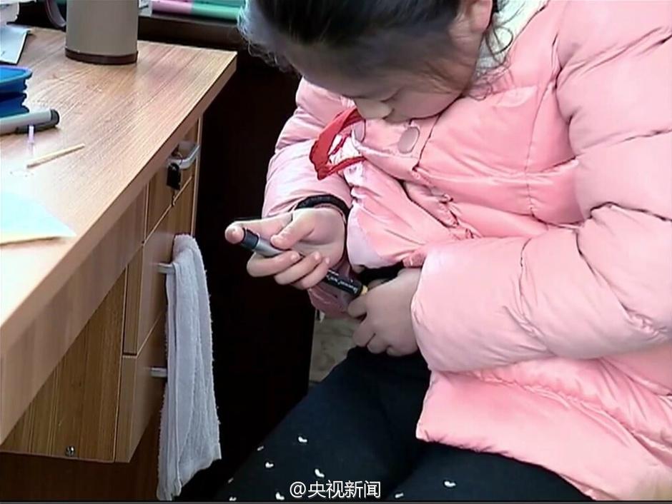 苏州女童患糖尿病 自己注射药物3年图