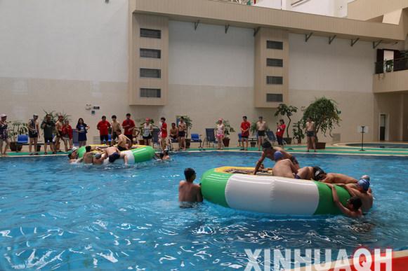 全民游泳健身周:水上趣味竞赛 消夏健身两不误