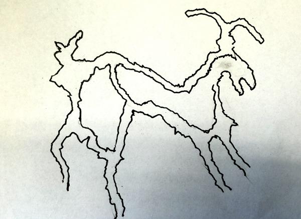 国画 简笔画 手绘 线稿 600_437