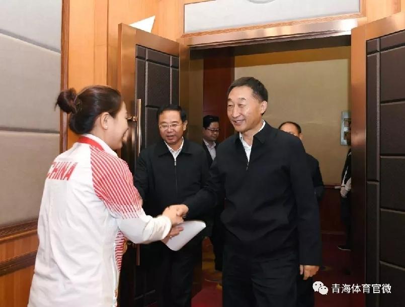 刘宁接见我省参加亚运会运动员教练员代表