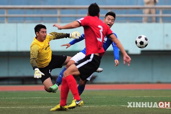 在中国足球乙级联赛(北区)第13轮比赛中,青海森科队主场与青岛海牛队