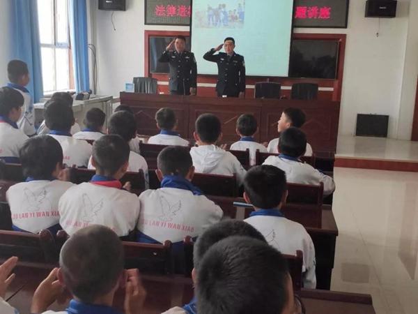 公安局察苏派出所开展法宣进校园专题讲座活动