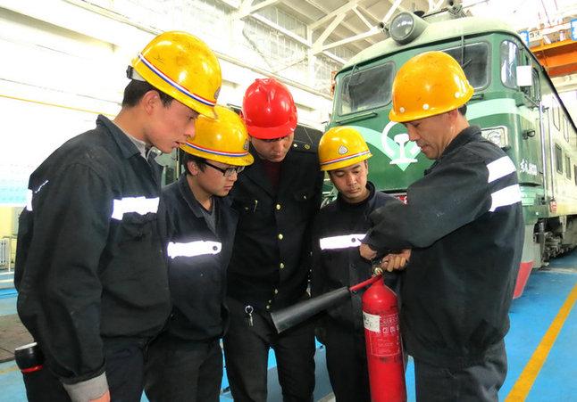 格尔木机务段消防安全知识培训