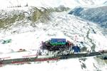 航拍世界最高海拔國際滑雪登山挑戰賽