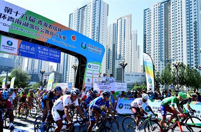 自行車——第十六屆環青海湖國際公路自行車賽第二賽段賽況