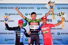 自行车——第十六届环青海湖国际公路自行车赛第四赛段赛况
