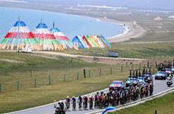 自行车——环青海湖国际公路自行车赛第五赛段赛况