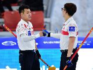冰壺——青(qing)海(hai)國際精英賽︰瑞典男隊勝中國男隊