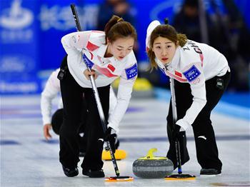冰壺——青(qing)海(hai)國際精英賽︰中國女隊勝德國女隊