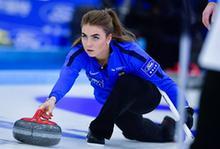 冰壺——青(qing)海(hai)國際精英賽︰中國女隊勝愛沙尼亞女隊