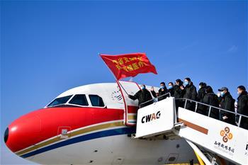 青海省首批135名醫務人員馳援湖北