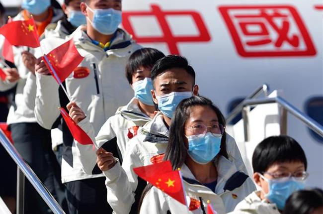 青海:援助湖北醫療和救援隊平安返回