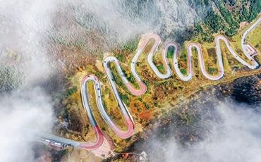 雲中天路--互助十二盤坡