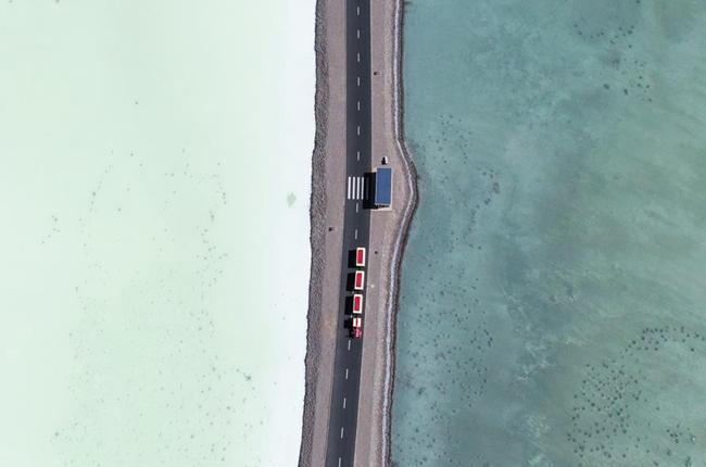 秋遊茶卡鹽湖