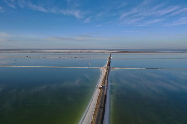 冬日鹽湖美如畫
